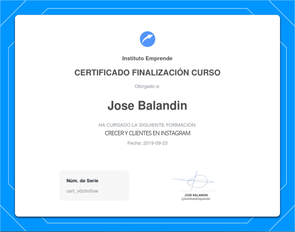certificado-creceryclientes-instagram-institutoemprende