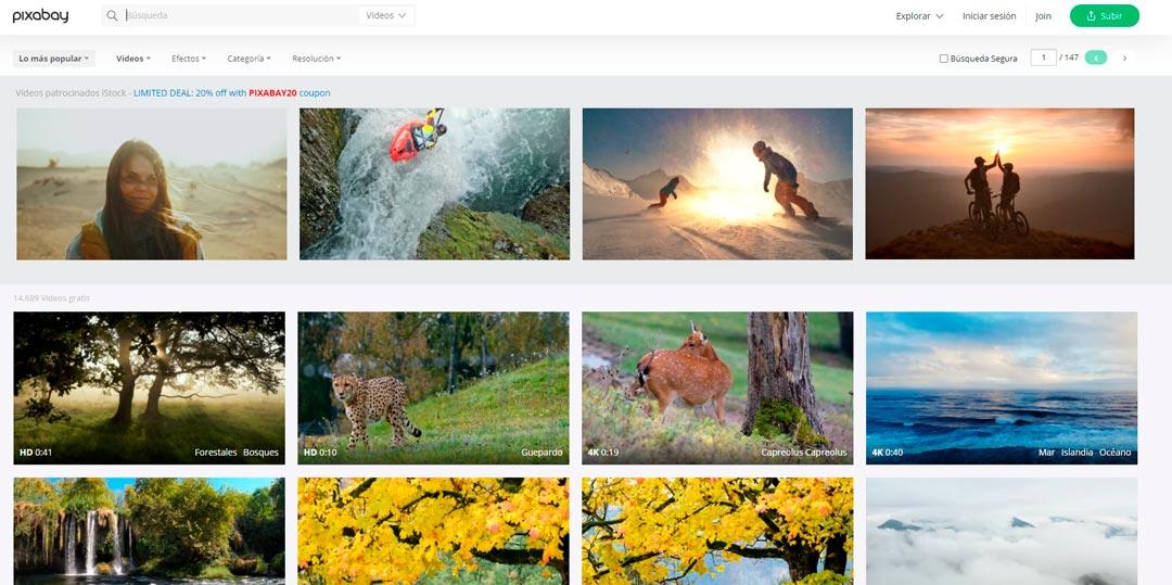 pixabay vídeos