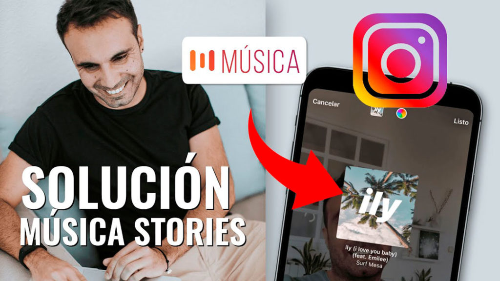 solución cómo poner música en instagram stories