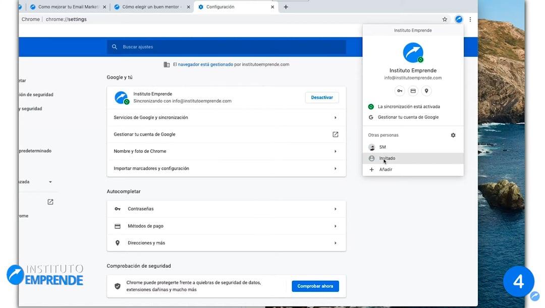 varias cuenta en Chrome