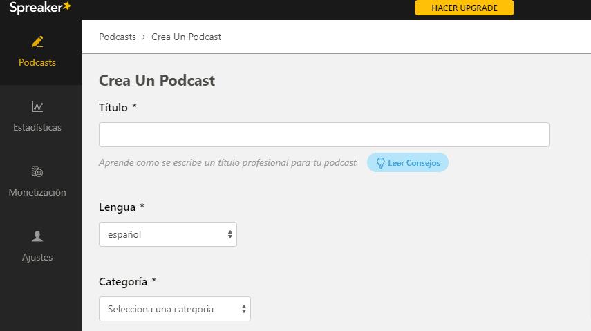 Grabar podcast con Spreaker Studio