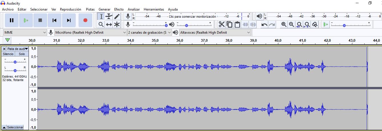 grabar podcast en Audacity