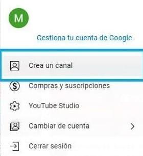 pasos para crear un canal de youtube