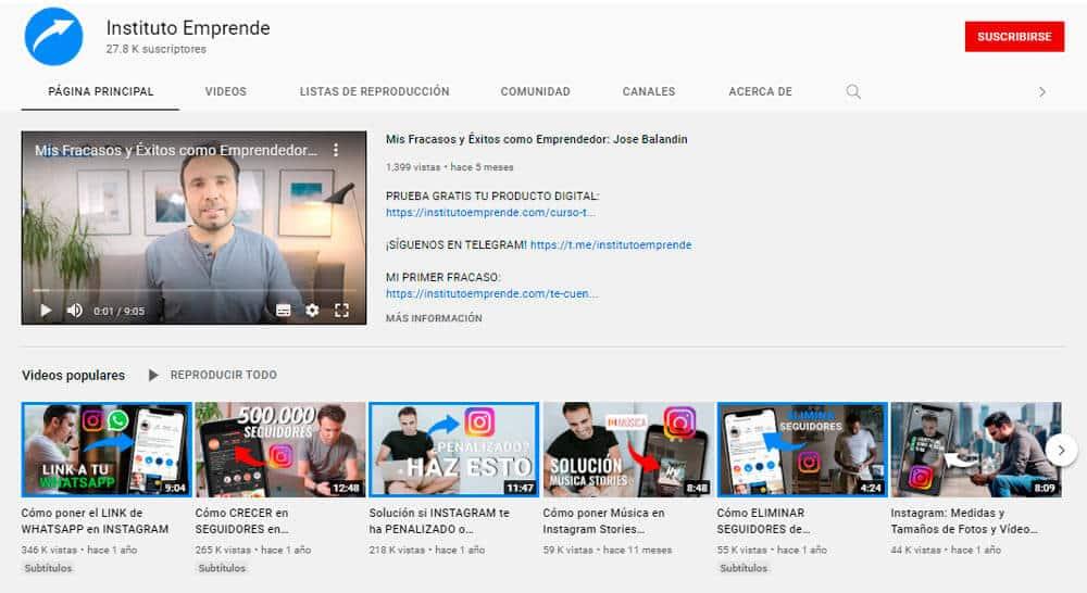 video marketing instituto emprende