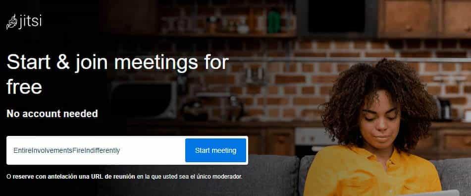 plataforma de videoconferencias: jitsi meet
